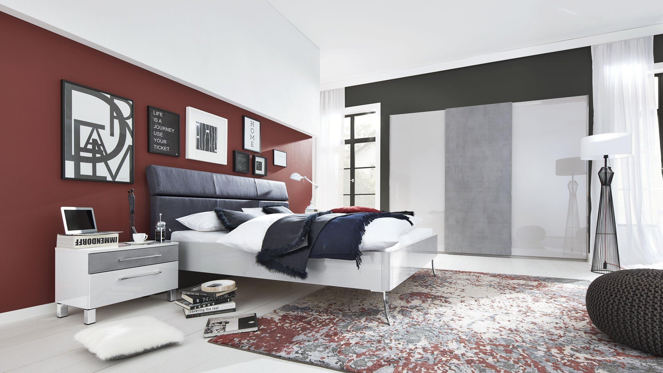 Mit Farbe Räume Gestalten  Interliving Schlafzimmer Serie 1003