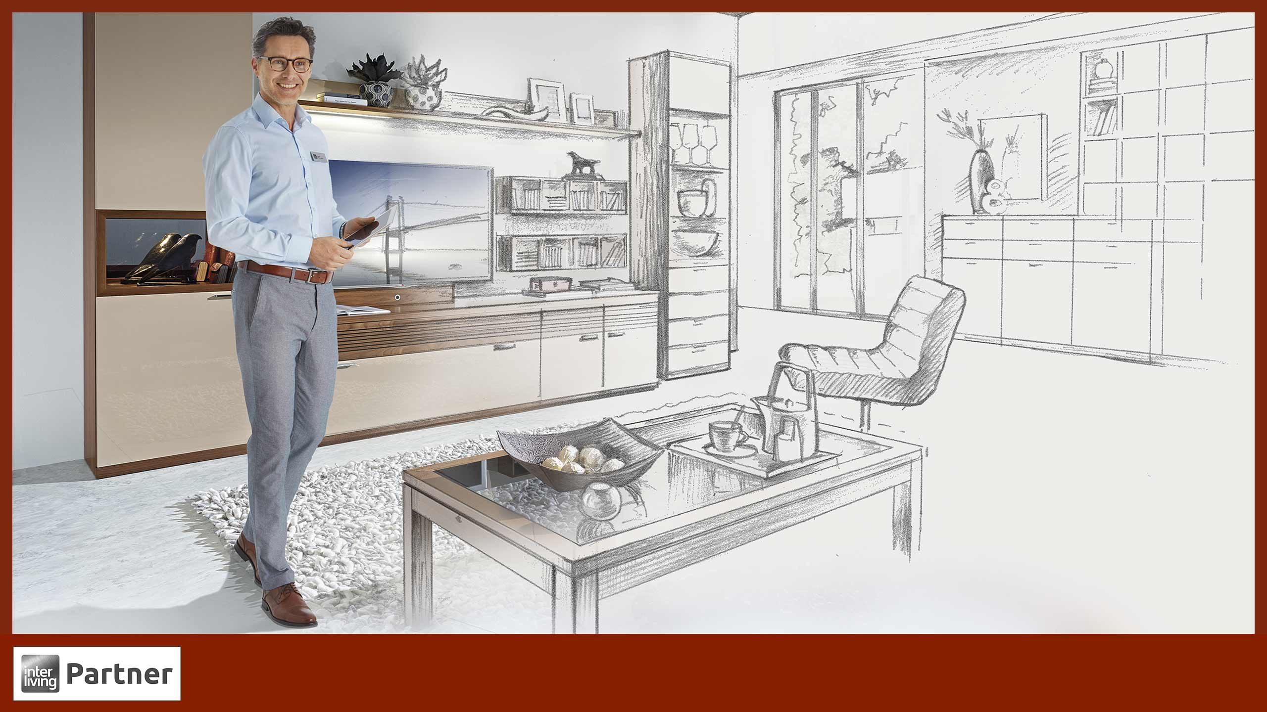 Wohnwand richtig planen – mit exklusiver Beratung bei Ihrem Interliving Partner