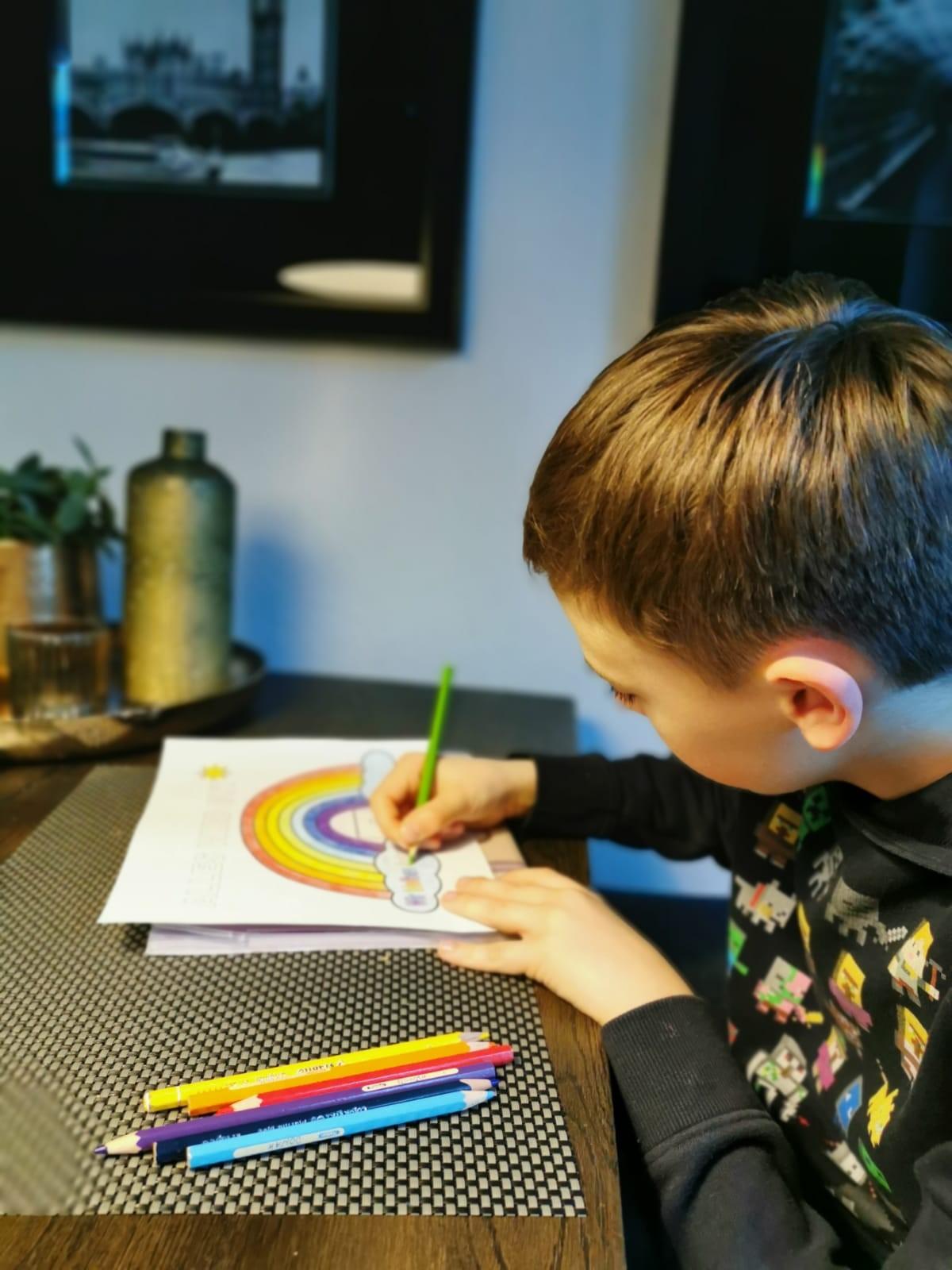 regenbogen gegen corona  malvorlage für kinder von