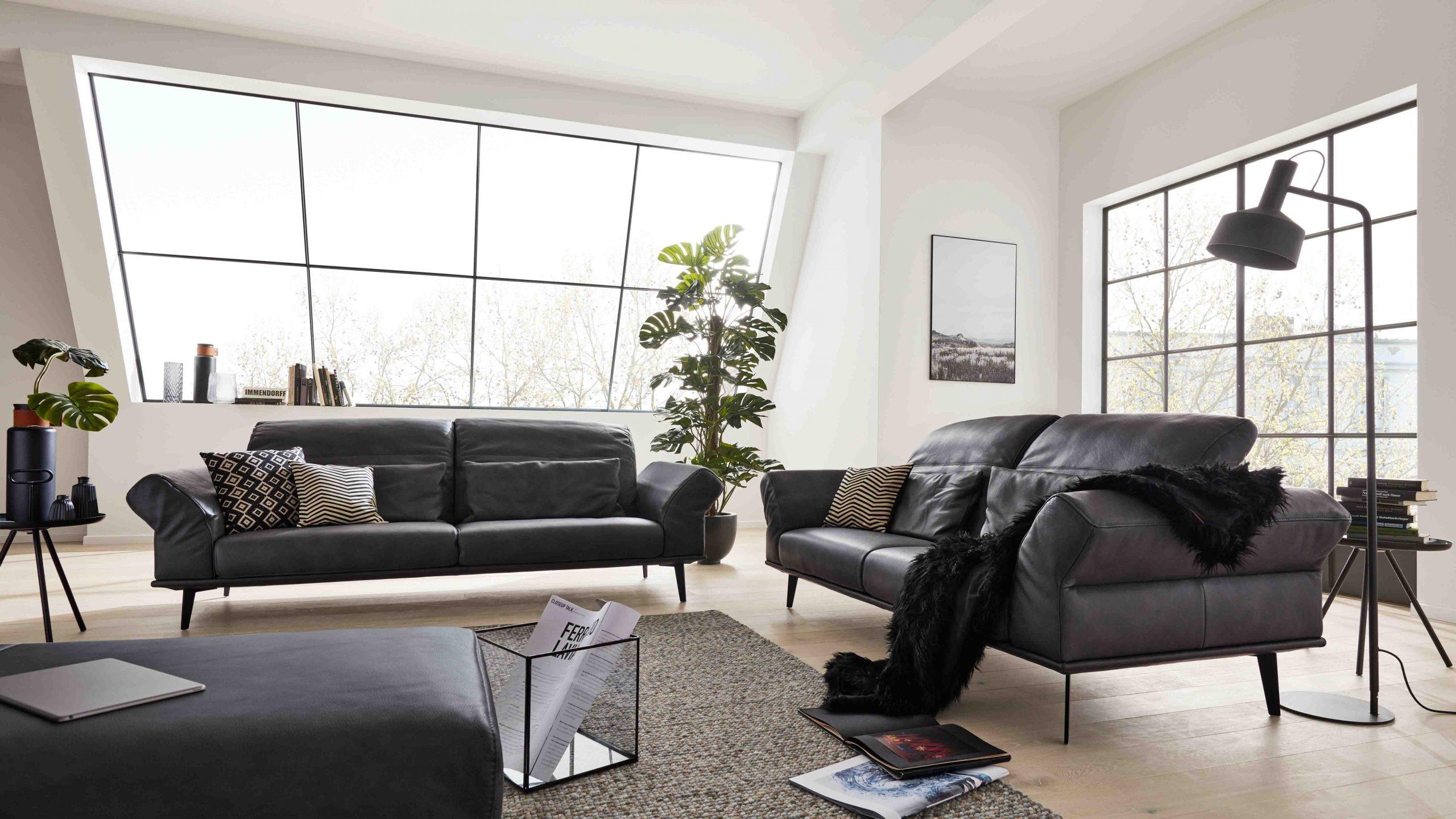 Interliving Sofa Serie 4003 in anthrazit - Variantenvielfalt