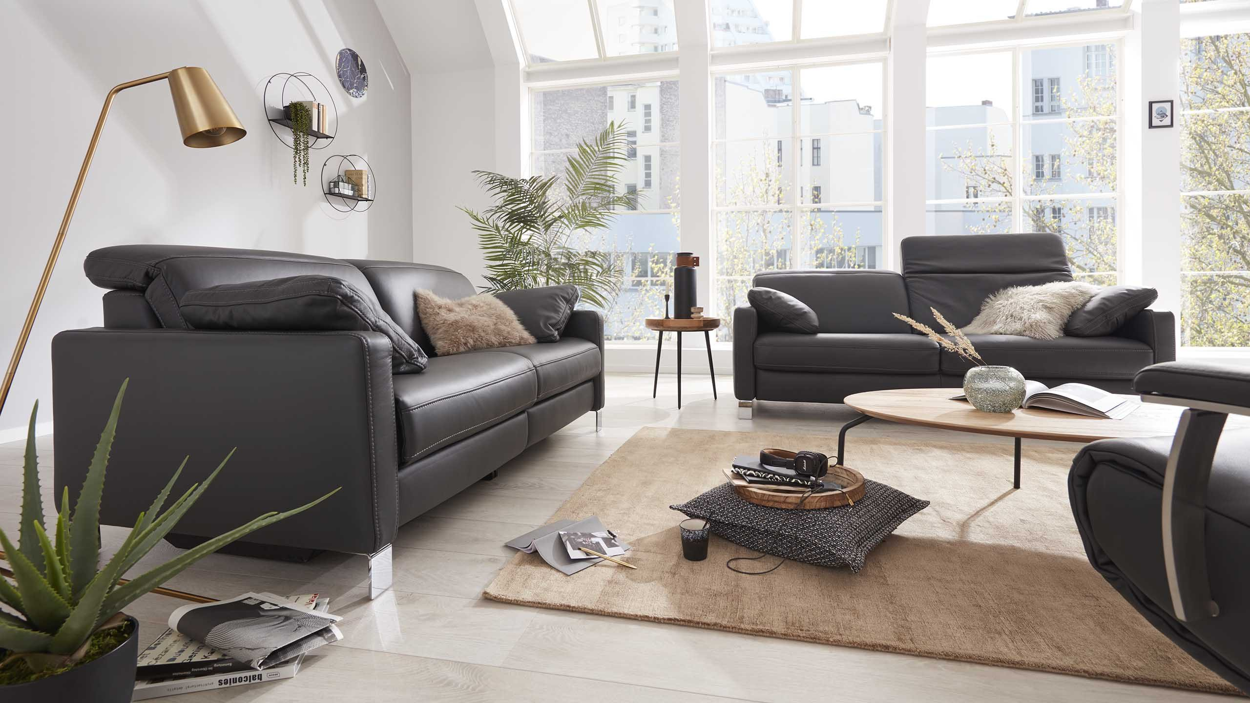 Interliving Sofa Serie 4054 in anthrazit