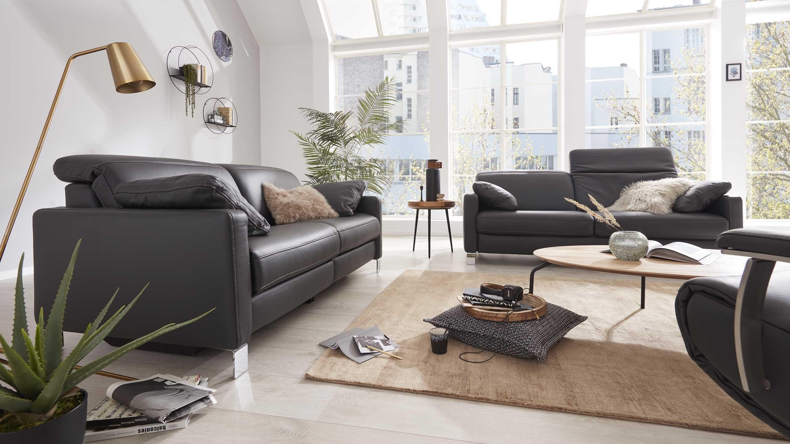 Interliving Sofa Serie 4054 in anthrazit
