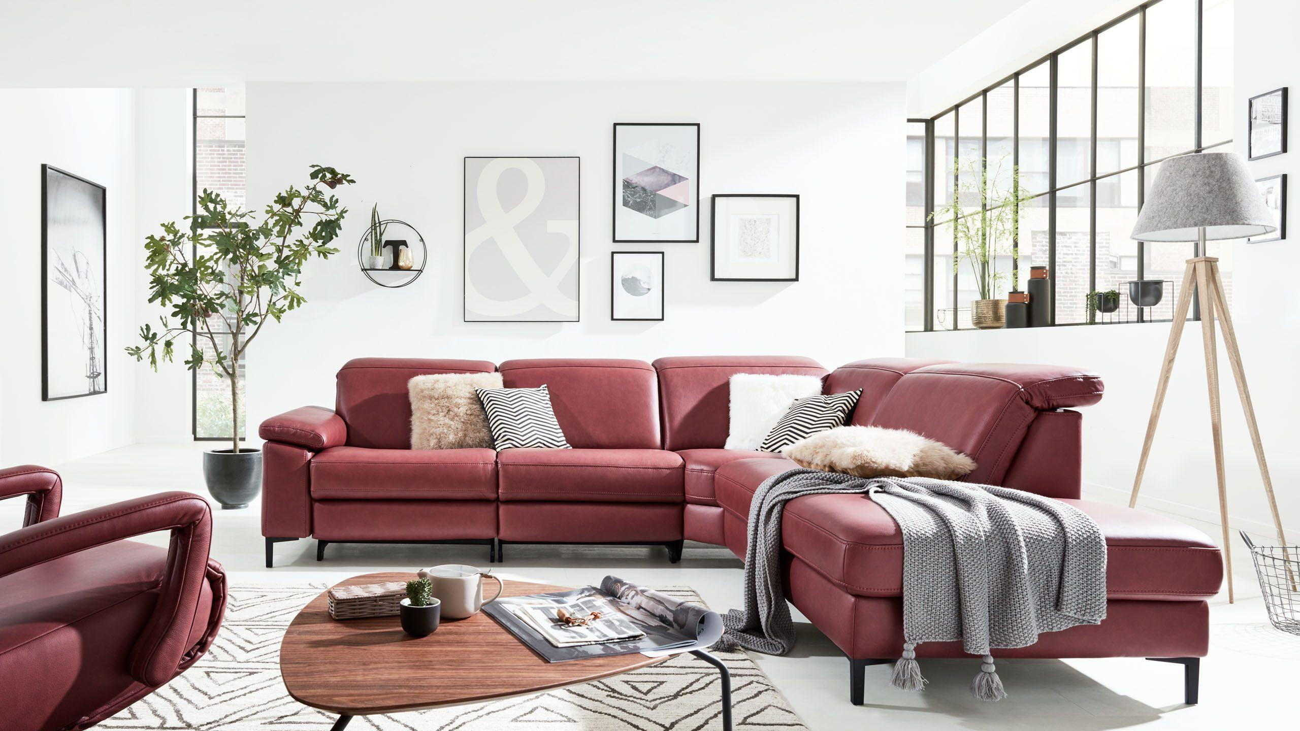 Interliving Sofa Serie 4054 in barolo rot - Variantenvielfalt